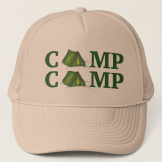 CAMP Green Tent Summer Camping Hiking Camper Hat