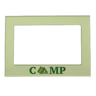 CAMP Green Tent Summer Camping Hiking Gift Frame
