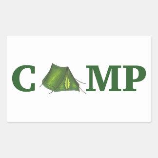 Camp Green Tent Summer Camping Hiking Sticker