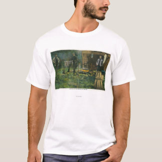 Camp Ground Scene of Men Camping in Maine T-Shirt