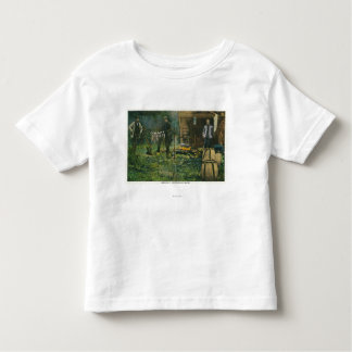 Camp Ground Scene of Men Camping in Maine Toddler T-shirt