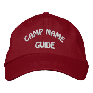 Camp Guide Basic Embroidered Hot Red Cap