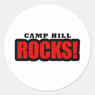 Camp Hill, Alabama City Design Classic Round Sticker