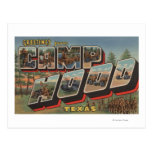 Camp Hood, Texas - Large Letter Scenes Postcard