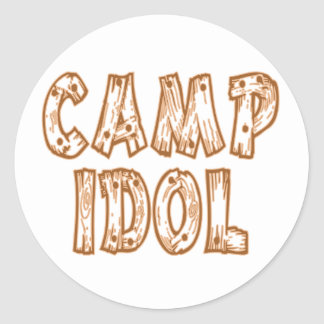 Camp Idol Classic Round Sticker