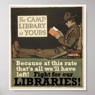 Camp libraries poster