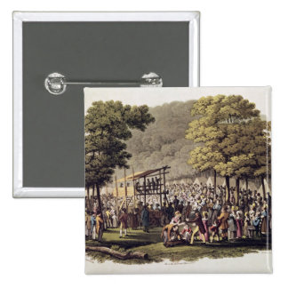 Camp Meeting of the Methodists in North 2 Inch Square Button