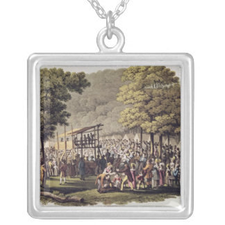 Camp Meeting of the Methodists in North Silver Plated Necklace