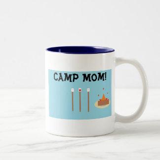 Camp Mom! Two-Tone Coffee Mug