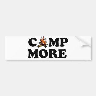Camp More Campfire Car Bumper Sticker