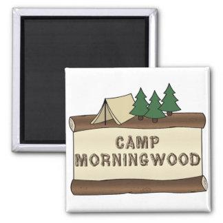 Camp Morningwood 2 Inch Square Magnet