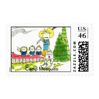 CAMP MOSQUITO postage stamp