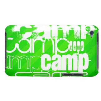 Camp; Neon Green Stripes Barely There iPod Covers