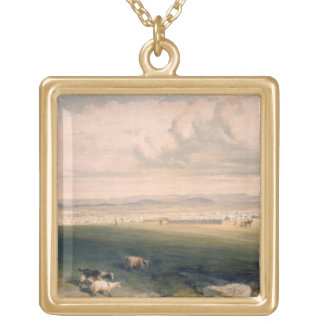 Camp of the Light Division, plate from 'The Seat o Gold Plated Necklace