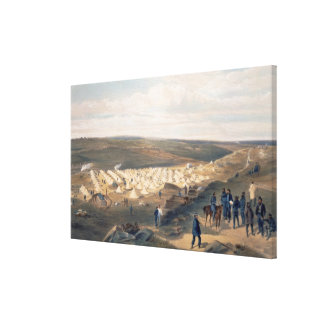 Camp of the Naval Brigade, plate from 'The Seat of Canvas Print