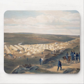 Camp of the Naval Brigade, plate from 'The Seat of Mouse Pad