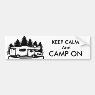 Camp On Bumper Sticker