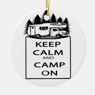 Camp On Collection Ceramic Ornament
