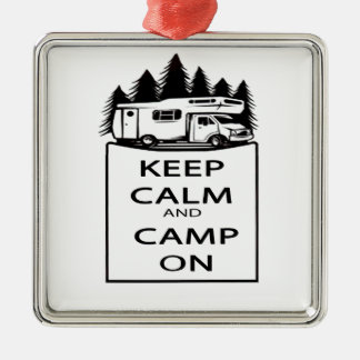 Camp On Collection Metal Ornament