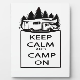 Camp On Collection Plaque