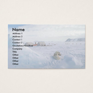 Camp on ice business card