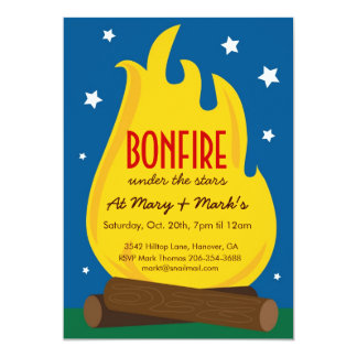 Camp out Birthday Party Invitation, Card