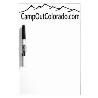Camp Out Colorado Dry Erase Board