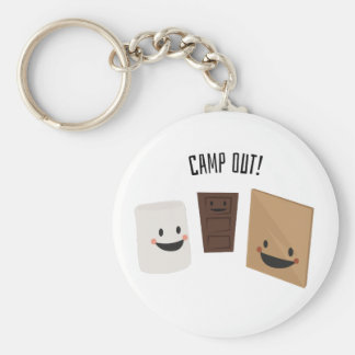 Camp Out! Keychain