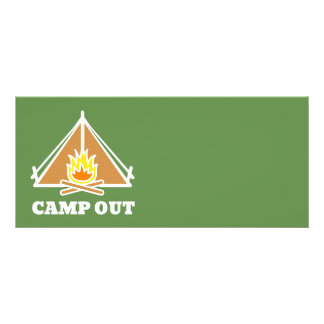 Camp out rack card
