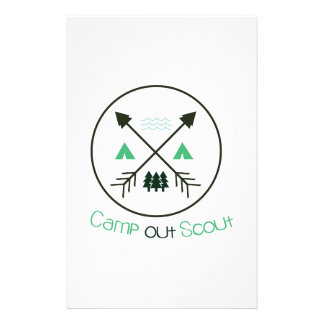 Camp Out Scout Stationery