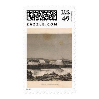 Camp, Pendulum Peak, Hawaii Postage Stamp