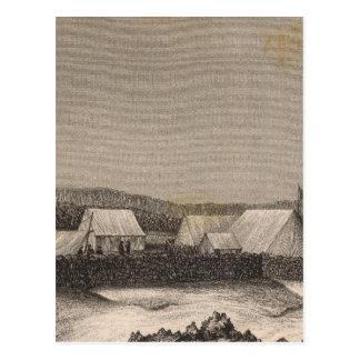 Camp, Pendulum Peak, Hawaii Postcard