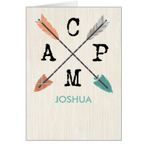 Camp Personalize Name Arrows on Wood Pattern