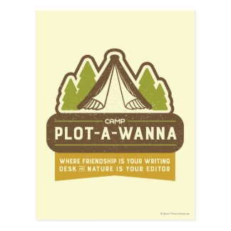 Camp Plot-A-Wanna Postcard
