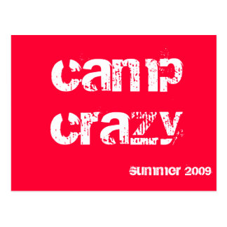 Camp Post-Card Postcard