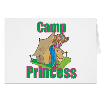 CAMP-Princess Greeting Card
