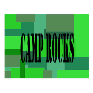 Camp Rocks Camouflage Postcard