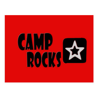 Camp Rocks Red Black Postcard