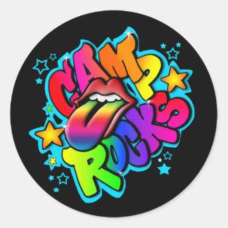 Camp Rocks Round Sticker