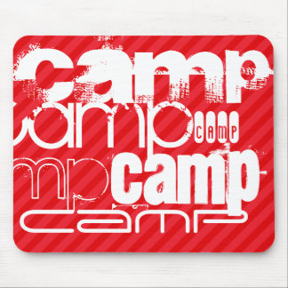 Camp; Scarlet Red Stripes Mouse Pad