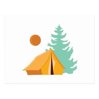 Camp Scene Postcard
