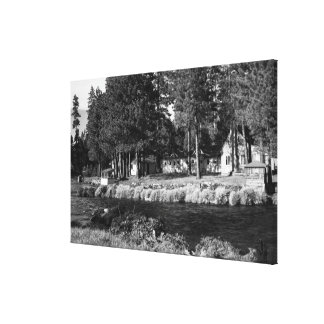 Camp Sherman, Oregon view of Rogers Cabins Canvas Print