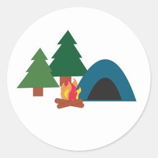 Camp Site Classic Round Sticker