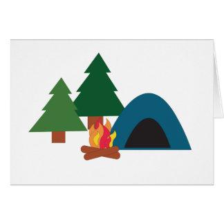 Camp Site Greeting Card