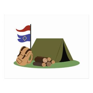 Camp Site Postcard