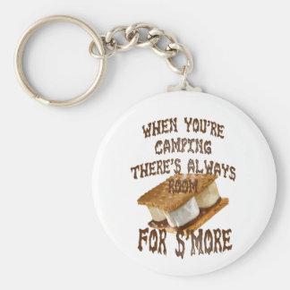 Camp Smores Basic Round Button Keychain
