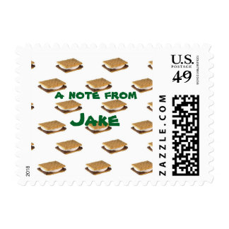 camp, s'mores customizeable stamp