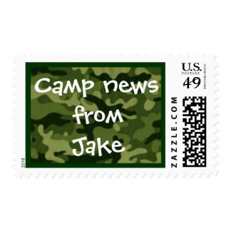Camp stamp green camo