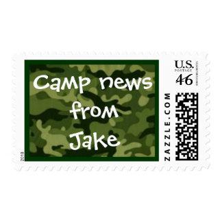 Camp stamp green camo
