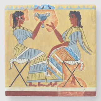 camp stool fresco priestesses talking replica anci stone coaster